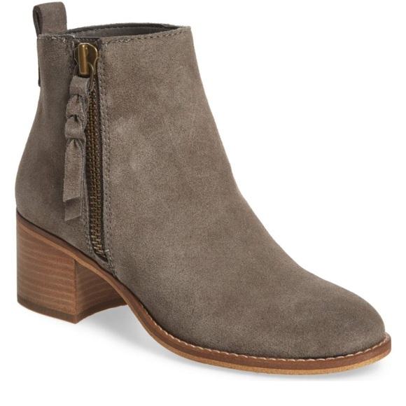 8c63c4e11fe5e bp Shoes - BP Just Block Heel Bootie 7 Grey Suede